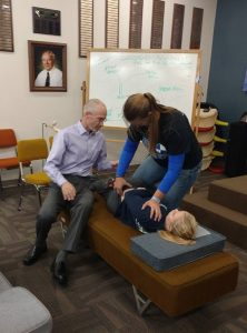 Chiropractor Oshkosh WI Brian Anderson teaching students